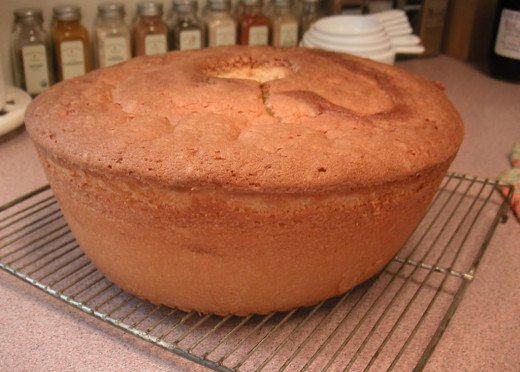 Aunt Jessie's homemade pound cake waiting to be sliced and packed up for the picnic basket.