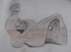 A sketch of Henry Moore's 'Recumbent Figure'