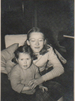 My sister and I c.1953