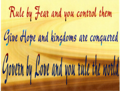 'Hope' Counteracts 'Fear'