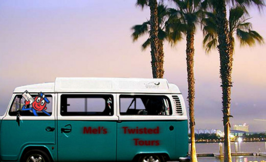 Take a tour of San Diego on Mel's Twisted Tour Bus.