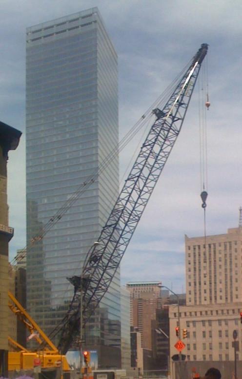 Crane in Downtown Manhattan, photo taken by Randi Glazer