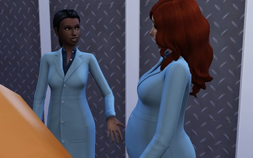 Delia talks to Harmony and asks her for a crystal.