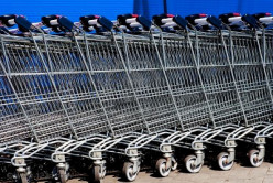 The common things most of the people do with their shopping cart at the store when they are done with it