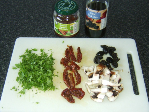 Prepared assorted Mediterranean vegetables