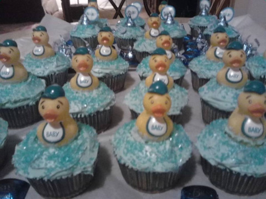 Baby-Boy Themed Cupcakes