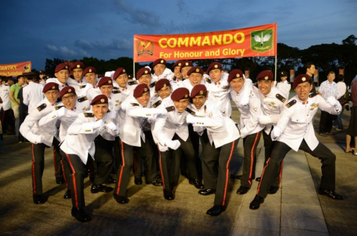 Commissioning Parade featuring the Commandos Formation.