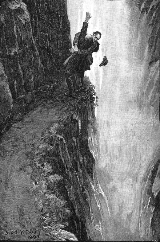 "Holmes, Moriarty, and Reichenbach Falls in ""The Final Problem"""