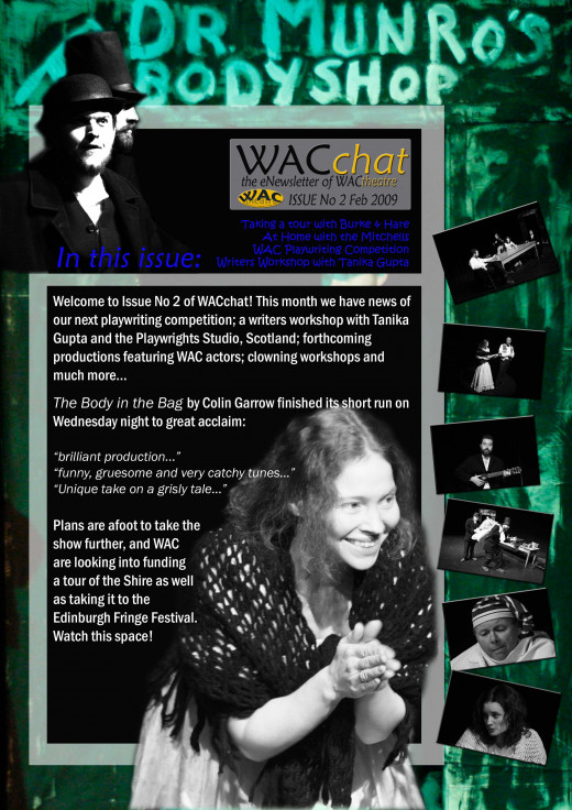 Cover of WacChat newsletter No 2, by Colin Garrow