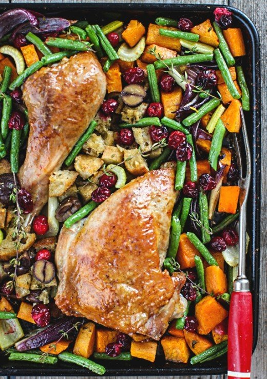 Sheet pan chicken is easy and quick to prepare. Learn the tips for ensuring all ingredients cook to perfection at the end of the baking period.