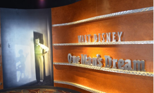 """Walt Disney - One Man's Dream"" is an exhibit with authentic, personal affects that belonged to Walt. A short film, narrated by Julie Andrews, not only offers visitors a brief, cool break from walking the park, but also insight into Walt Disney."