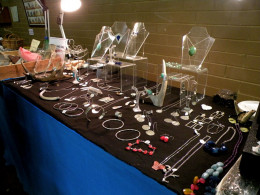 A closer look at Rachel's jewellery.