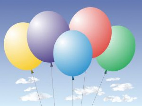 Balloons of celebration