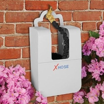 XHose wall mounted plastic storage box over water spicket