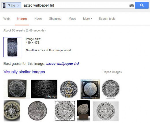 Searching by uploading the image