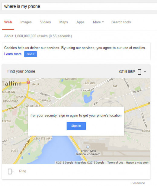 Where is my phone - a brilliant way to find your lost phone and even ring it