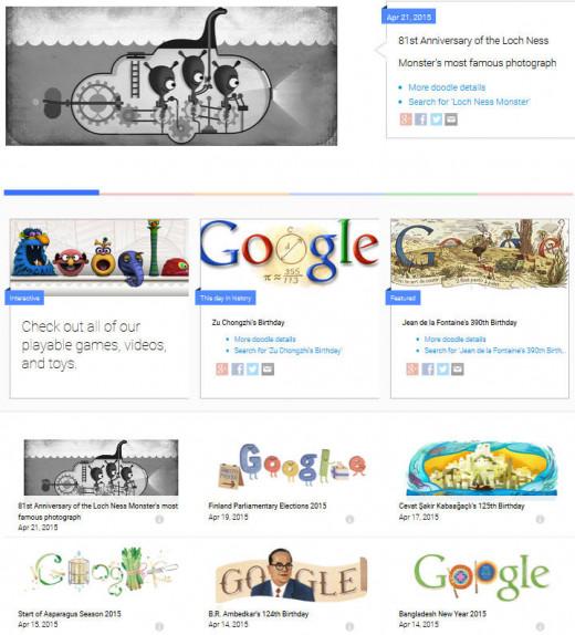 large gallery of custom creative Google icons