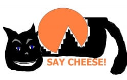 There is the possibility that creamy Cheshire cheese is part of the Cheshire cat story.