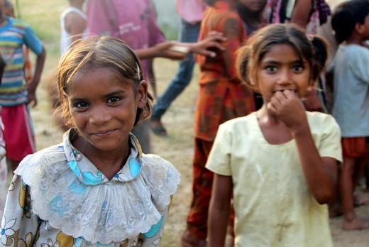 Sweet girls like these are in danger of being trafficked and sold as sex slaves in India.