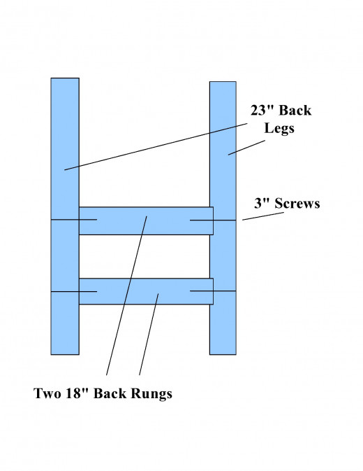 Diagram of chair back construction