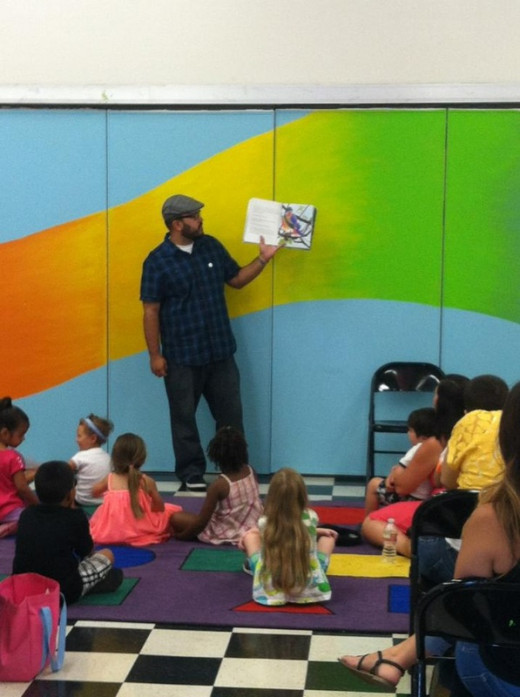 Author Victor Castelo Reading Tommy the Courageous Bird at the Children's Museum at La Habra