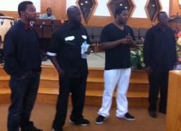 Evans, Marvin, Rasheed, Curtis (L-R)