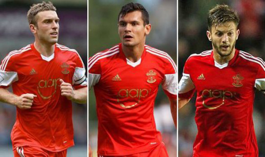 Rickie Lambert, Dejan Lovren & Adam Lallana all left Southampton last Summer