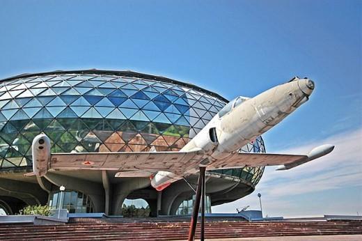 The Belgrade Aviation Museum with it's impressive, futuristic design.