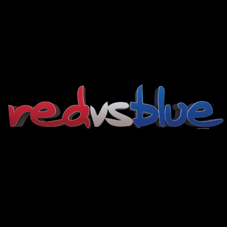 The logo for the series Red vs. Blue.