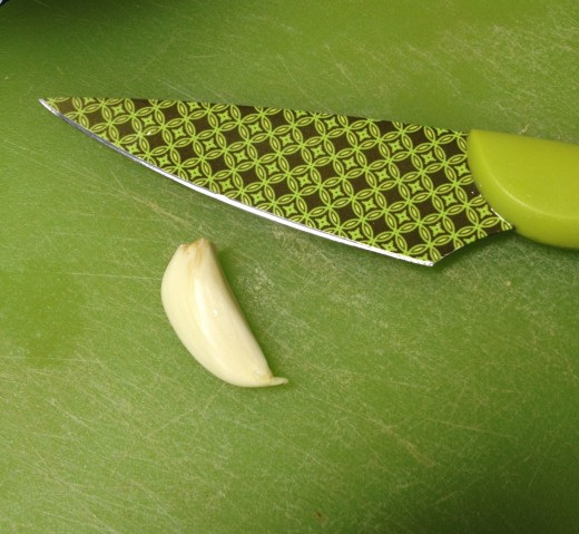 Use a good sized clove of garlic