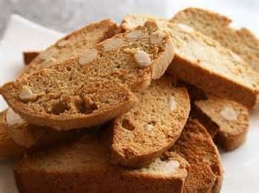 Gingered biscotti