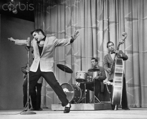 Elvis in concert at The Oakland Auditorium in late 1950's.