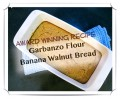 Garbanzo Flour Banana Walnut Bread: Gluten- and Cow's-Milk-Free
