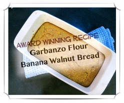 Garbanzo Flour Banana Walnut Bread: Gluten and Cow's Milk Free