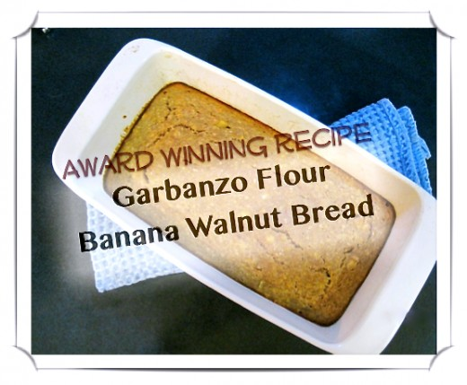 Garbanzo Flour Banana Bread Recipe
