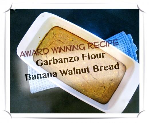 Garbanzo flour banana walnut bread gluten and cows milk free garbanzo flour banana bread recipe forumfinder Choice Image