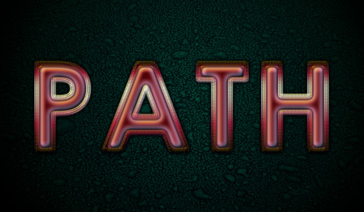 how to make work path in photoshop