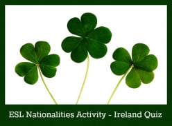 ESL Nationality Activity - Ireland Quiz