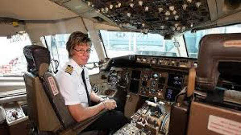 Airlines now have female pilots.
