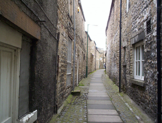 This passageway in Barnard Castle would have been an open sewer in 1849