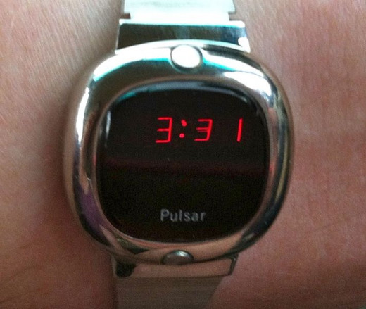 Recent photo of the Hamilton Pulsar electonic watch, the first one onto the marketplace