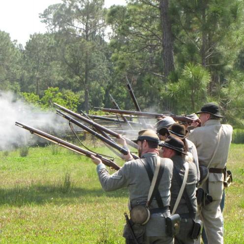 The 2015 reenactment of the Civil War battle.