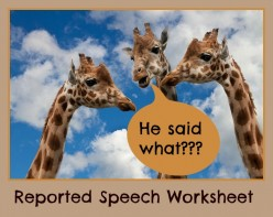 ESL Grammar - Reported Speech Worksheet