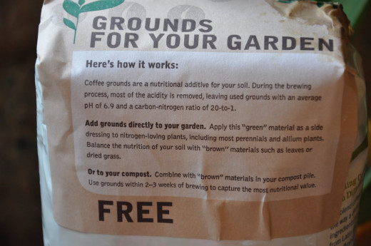 Free coffee grounds for your garden from Starbucks!