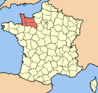 Basse-Normandy map. Which is where the small village of Reux and and the small town of Pont-l'Évêque is located about 125 miles from Paris. It is in this area that the Rothschild's estate, Chateau de Reux is located in France.  It was at this place w