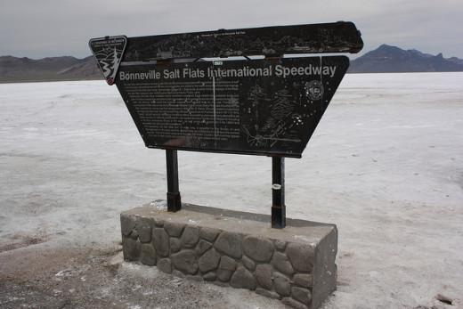 Bonneville International Speedway; many speed records were broken here.