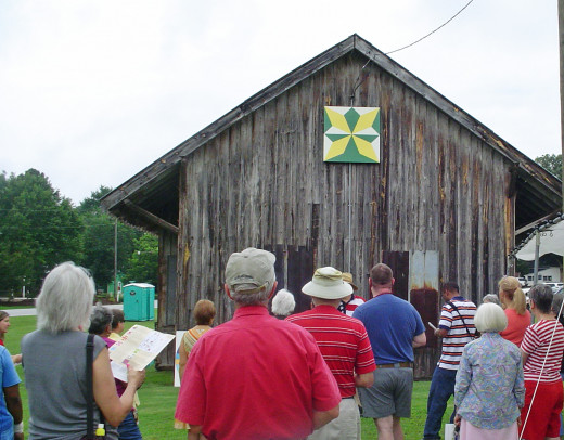 Franklin County Arts Council celebrates their Quilt Trail at historic old depot in Bunn, NC