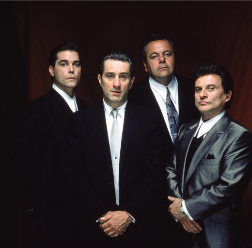 GoodFellas: Robert De Niro, Joe Pesci, front, Ray Liota and Paul Sorvino, back.