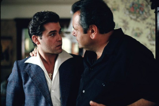 "Sorvino as ""Paul Cicero,"" advises Henry Hill, played by Ray Liota."