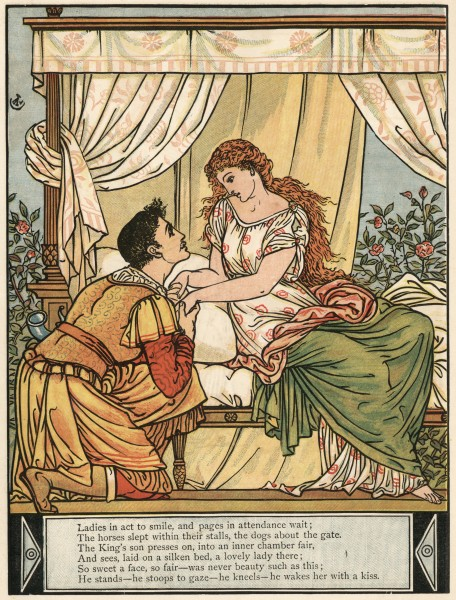 A Walter Crane illustration for Sleeping Beauty.